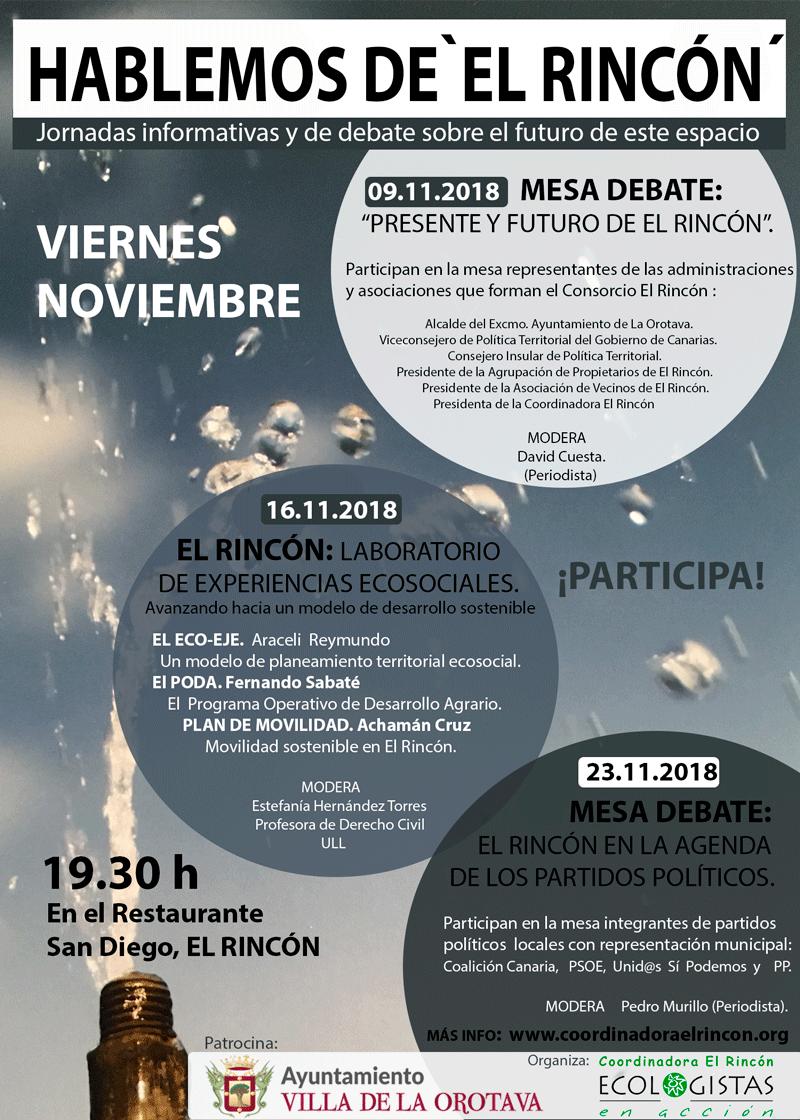 """Jornadas """"HABLEMOS DE EL RINCÓN"""""""