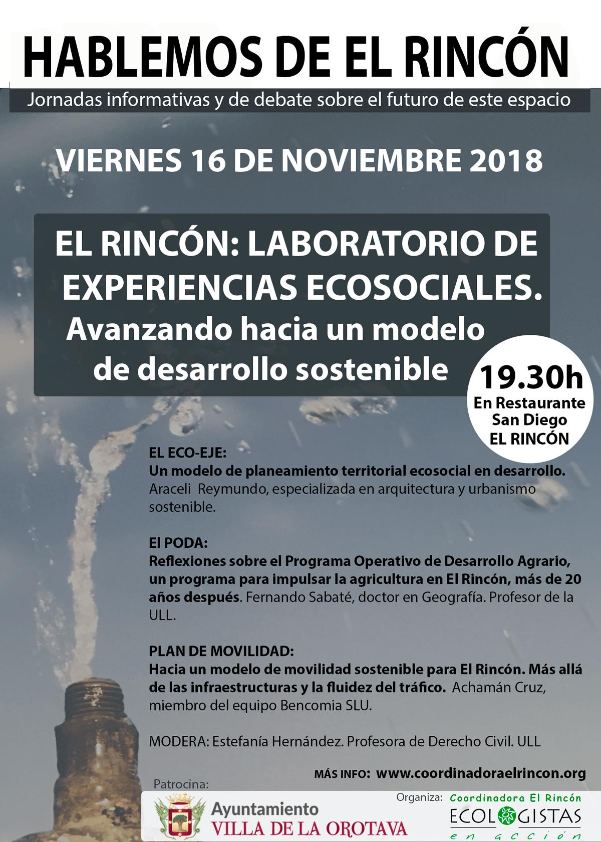 EL RINCÓN: LABORATORIO DE EXPERIENCIAS ECOSOCIALES